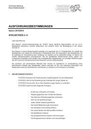 Ausführungsbestimmungen U13