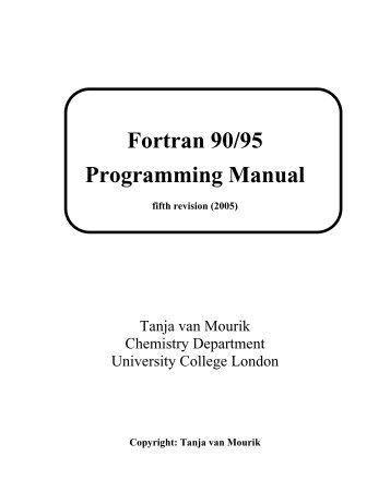 Fortran 90/95 Programming Manual