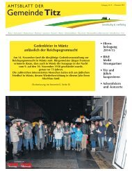 Amtsblatt Nr. 16 vom 01.12.2013 - Gemeinde Titz