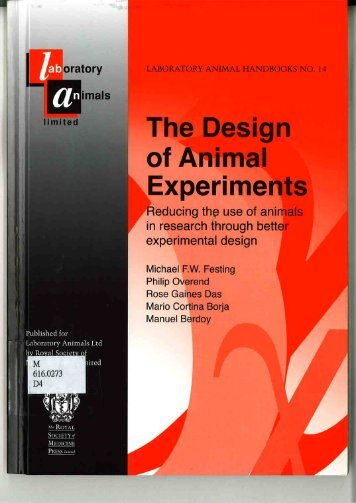 The Design of Animal Experiments