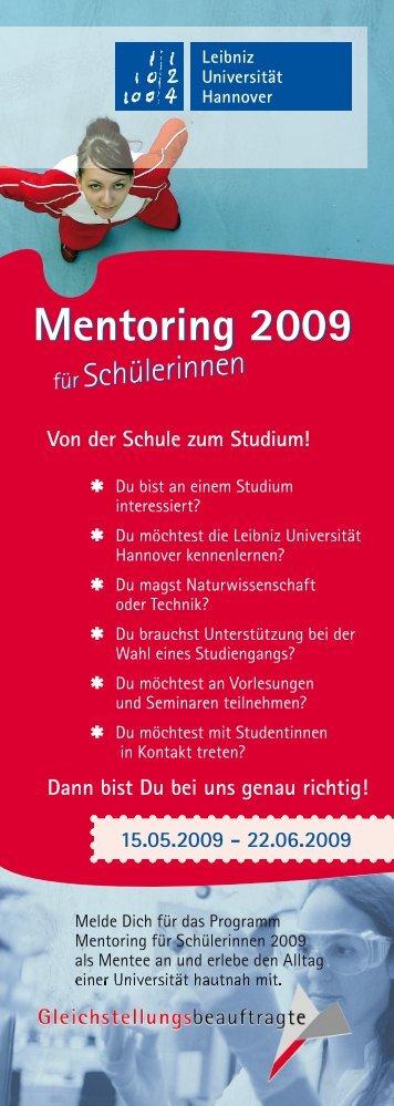 Mentoring 2009 Mentoring 2009 - Gleichstellungsbüro der Leibniz ...