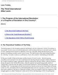 Leon Trotsky: The Third International After Lenin (Section 1-2)