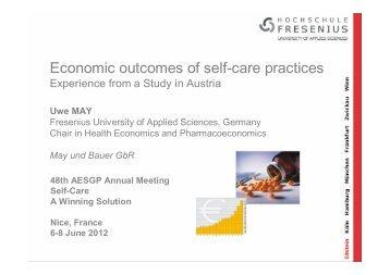 Economic outcomes of self-care practices - AESGP
