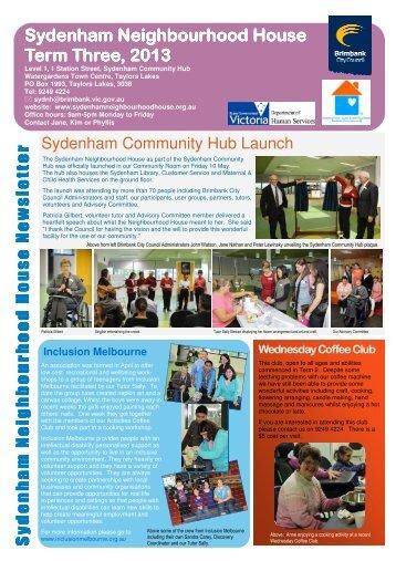 Sydenham Neighbourhood House Newsletter - Brimbank City Council
