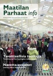 Maatilan Parhaat info 1 / 2008 - Snellman