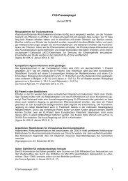 FCS-Pressespiegel Januar 2013