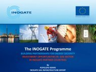 The INOGATE Programme - GIE