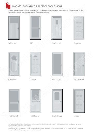View Standard uPVC Door Designs - Munster Joinery