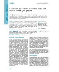 Cutaneous applications of medical lasers and intense pulsed