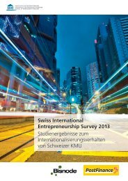 Swiss International Entrepreneurship Survey 2013 - Institute for ...