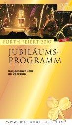 Jubiläumsprogramm Teil 1 - 1000 Jahre Fürth