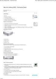 Mac mini (Anfang 2009) - Te... - Fonmarkt.de