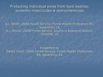 Protecting individual pines from bark beetles: systemic insecticides ...