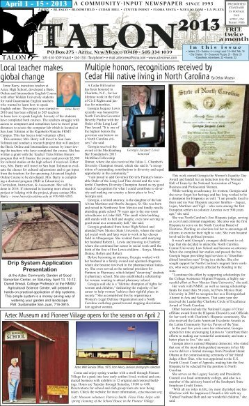 Download - The Aztec Local News
