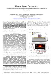 Guided Wave Plasmonics: an emerging technology for ...