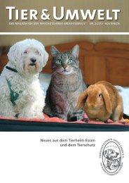 Tier&Umwelt Neues aus dem Tierheim Essen und dem Tierschutz