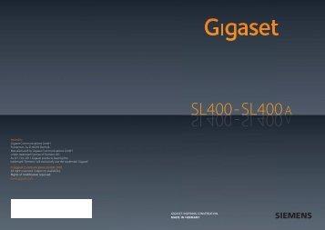 Siemens Gigaset SL400-SL400A Manual