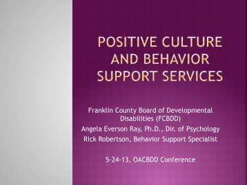 Franklin County Board of Developmental Disabilities (FCBDD ...