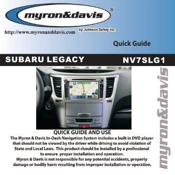Subaru Legacy Quick Guide-Coagent-0826.cdr - Myron & Davis