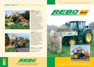 Prospekt Rebo Rack verb. RZ - Rebo Landmaschinen GmbH