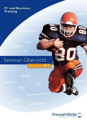 Seminarplan Jul.-Dez. 2009 - Freund + Dirks