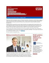 Clinical Connections issue 13 - NHS Connecting for Health