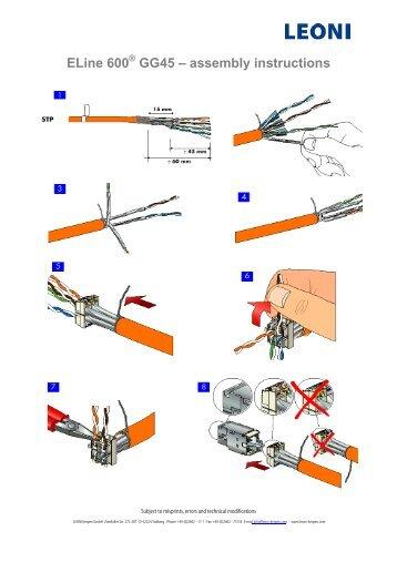 ELine 600 GG45 – assembly instructions - LEONI Infrastructure ...