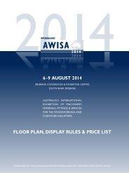 6-9 august 2014 floor plan, display rules & price list - Awisa