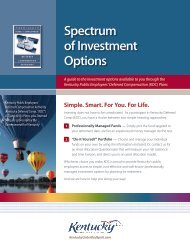 Spectrum of Investment Options - Nationwide Retirement Solutions