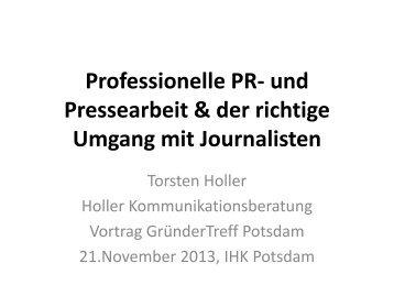 Professionelle PR- und Pressearbeit & der richtige Umgang mit ...