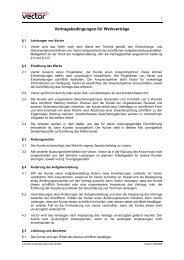 Vertragsbedingungen für Werkverträge - Vector