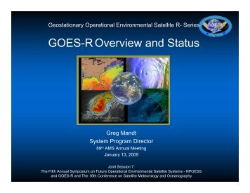 GOES-R Overview and Status