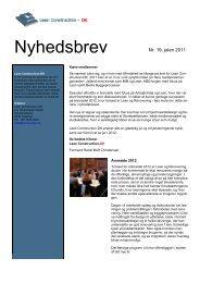 Nyhedsbrev nr. 19, julen 2011 - Lean Construction