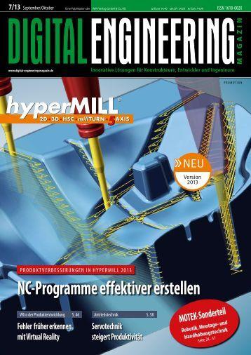NC-Programme effektiver erstellen - Digital Engineering Magazin
