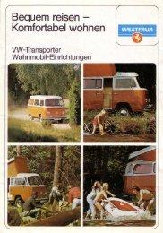 Westfalia, ca. 1976,