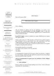prelevement et don d organe - Consulat général de France à Tunis