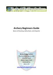 BBA Archery Beginners Guide July 2012.pdf - Burton Bridge Archers