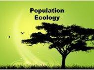 Population Ecology - ibiocideb