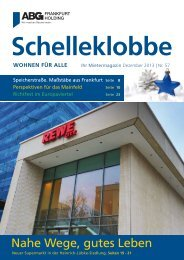 Nahe Wege, gutes Leben - ABG Frankfurt Holding