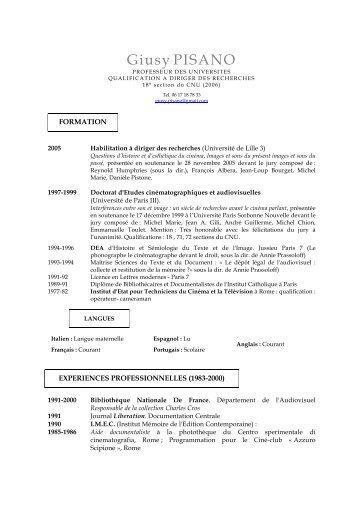Télécharger son CV - Ecole nationale supérieure Louis-Lumière