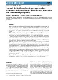 How well do first flowering dates measure plant responses to climate ...