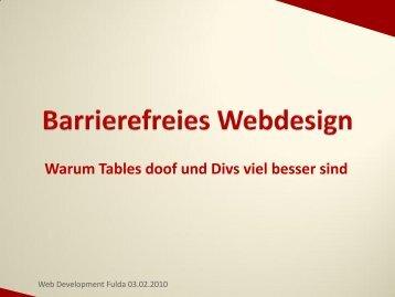 Barrierefreies Webdesign - webdevFulda
