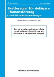 Skatteregler för delägare i fåmansföretag, SKV 292 ... - Skatteverket