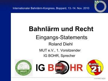Bahnlärm und Recht - IBK 2010 - Internationaler Bahnlärm Kongress