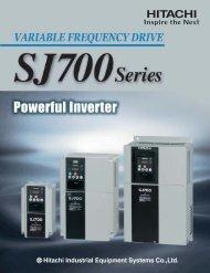 SJ700 Series Brochure - Hitachi America, Ltd.