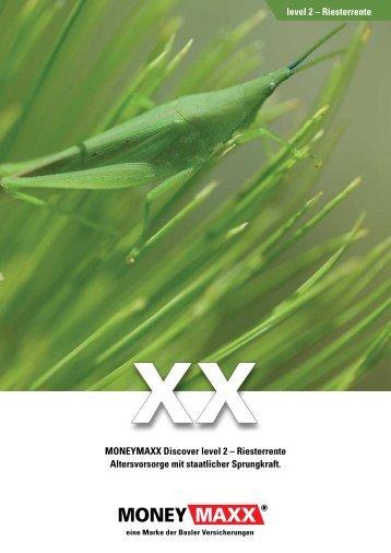 mit MONEYMAXX Discover level 2 – Riesterrente