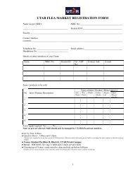 UTAR FLEA MARKET REGISTRATION FORM