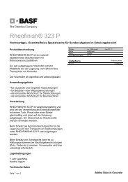 Rheofinish® 323 P - BASF Performance Products GmbH