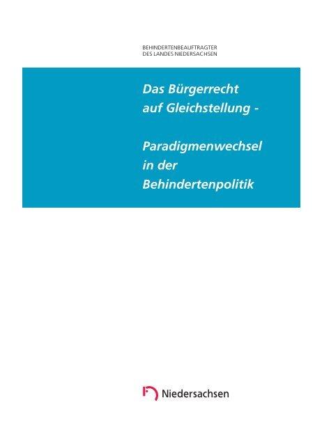 Das Bürgerrecht auf Gleichstellung - Behindertenbeauftragter des ...
