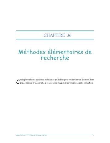 Méthodes élémentaires de recherche C